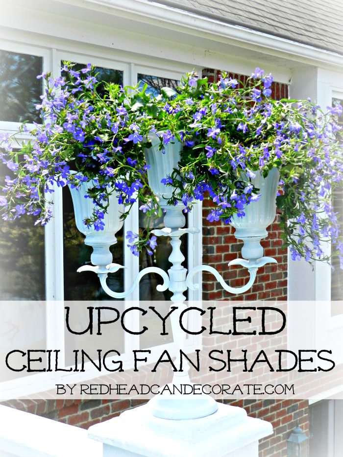 Upcycled Ceiling Fan Shades