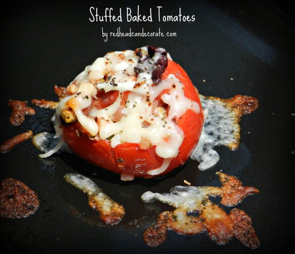 Low Carb Stuffed Baked Tomatoes