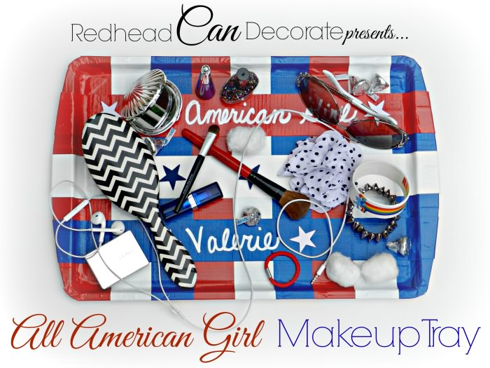 All Things Patriotic | 50 Patriotic Ideas, Recipes, Crafts |DIY Duct Tape Makeup Tray