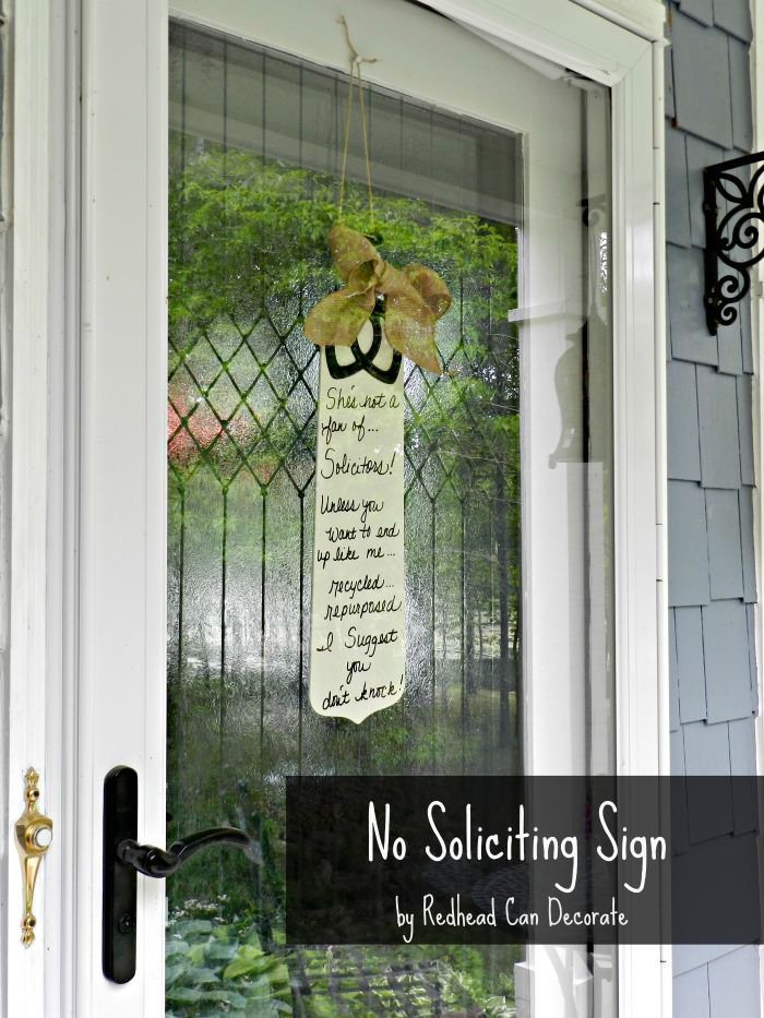 Diy No Soliciting Sign Redhead Can Decorate