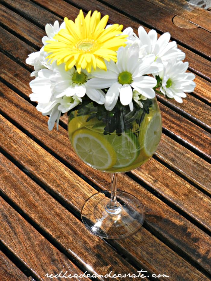 Lemon & Lime Daisy Arrangement