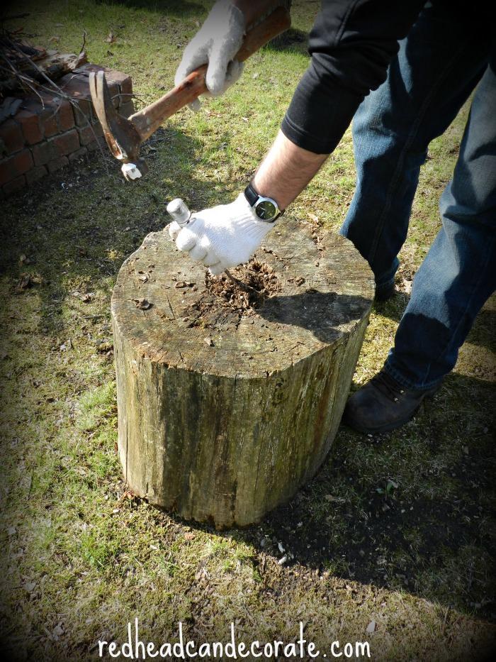 Stump Planter Tutorial