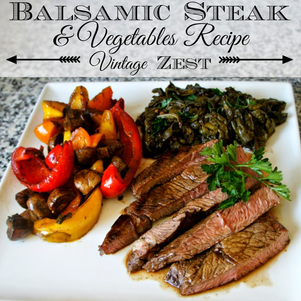 Balsamic Steak & Vegetables Recipe #ChooseSmart #CollectiveBias 1