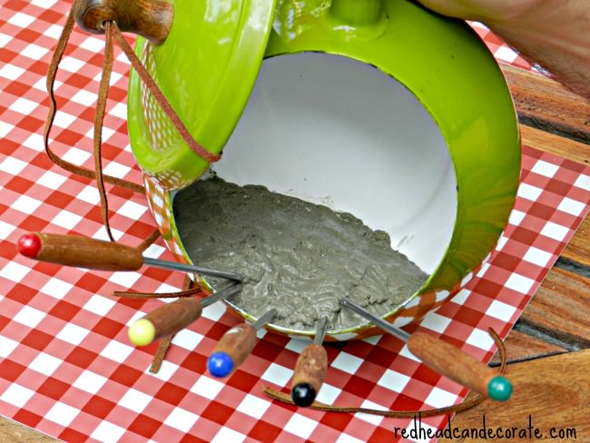 Fondue Pot Bird Feeder Tutorial