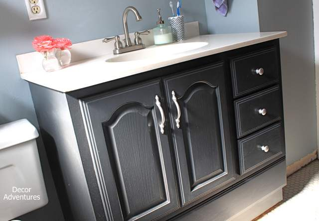 Satin Polycrylic Over Painted Kitchen Cabinets