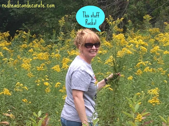 Julie Picking Flowers