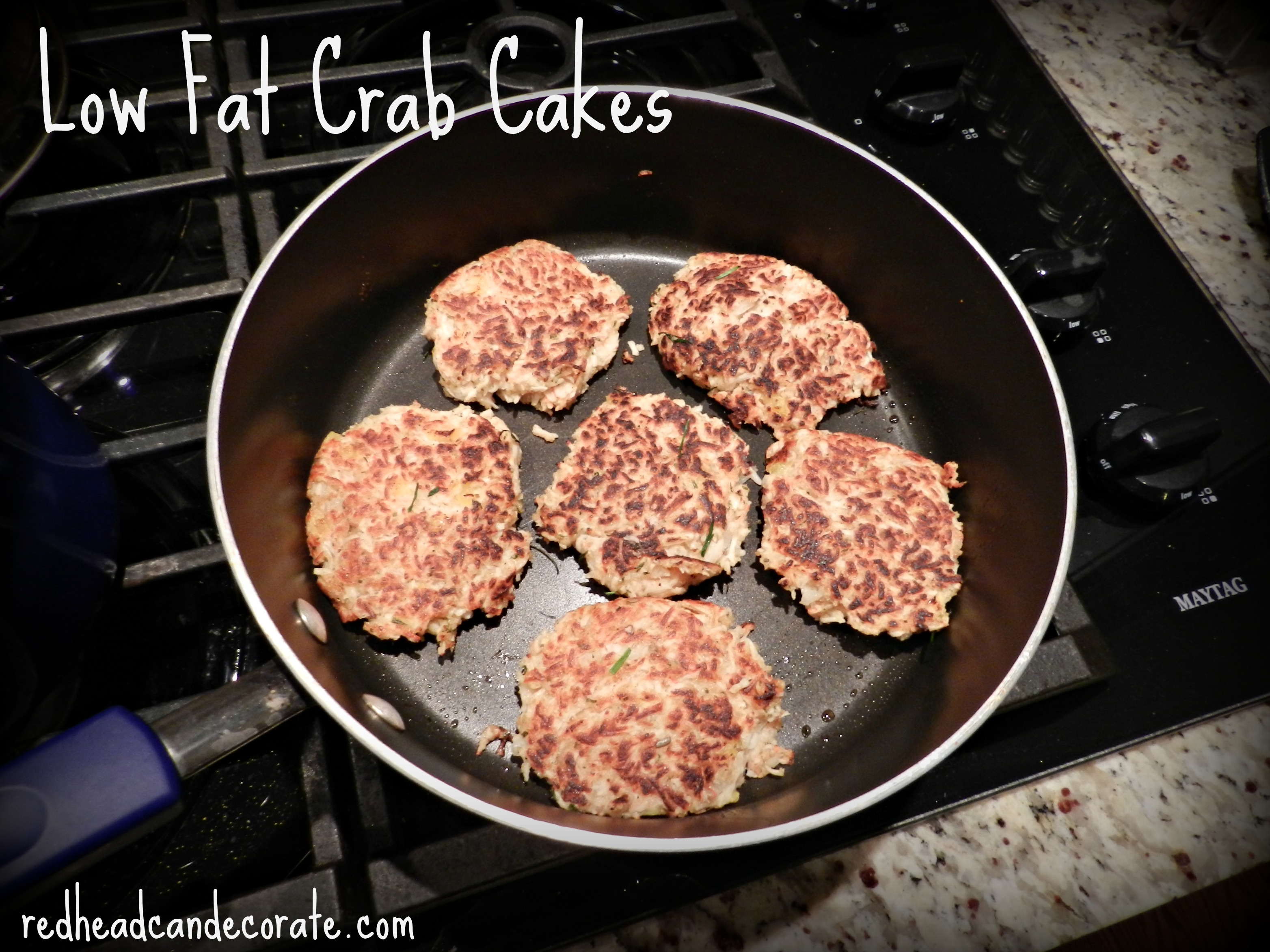 Low Fat Crab Cakes w: tons of flavor and texture.