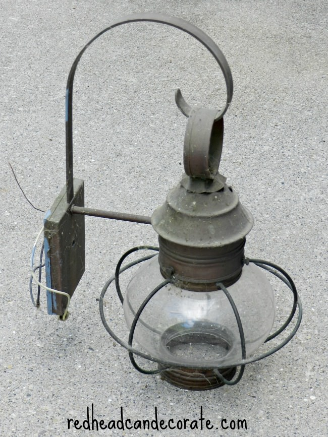 Repurposed Carriage Light Fixture