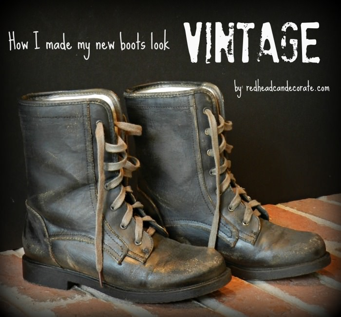 How to Make New Boots Look Vintage