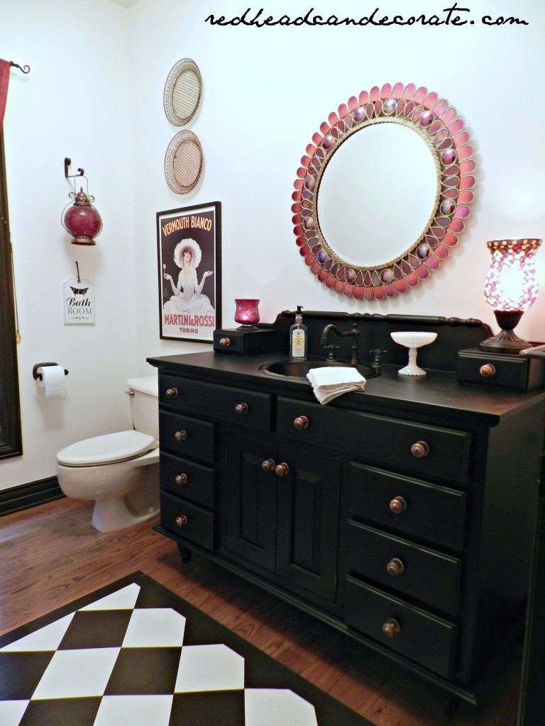 Beautiful Painted Black Vanity