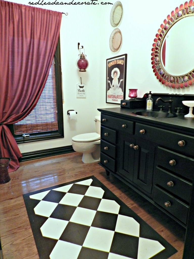 Black Bathroom Vanity
