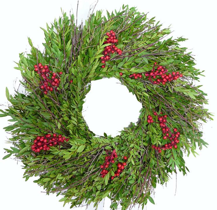 Fresh Berry Christmas Wreath