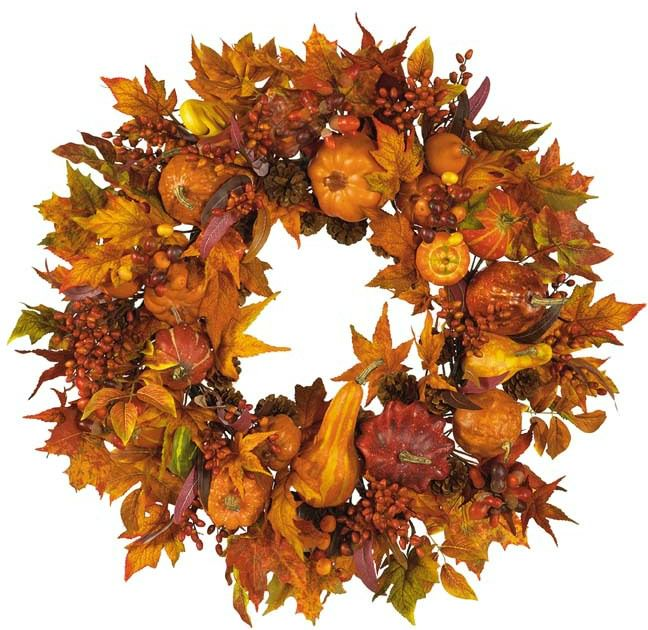orange fall wreath