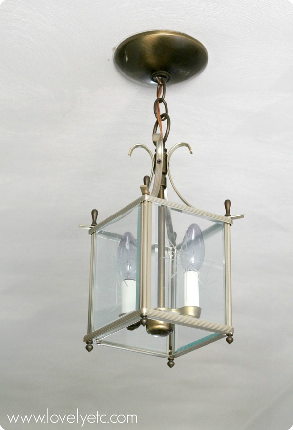 Dated brass lantern - ready to be transformed