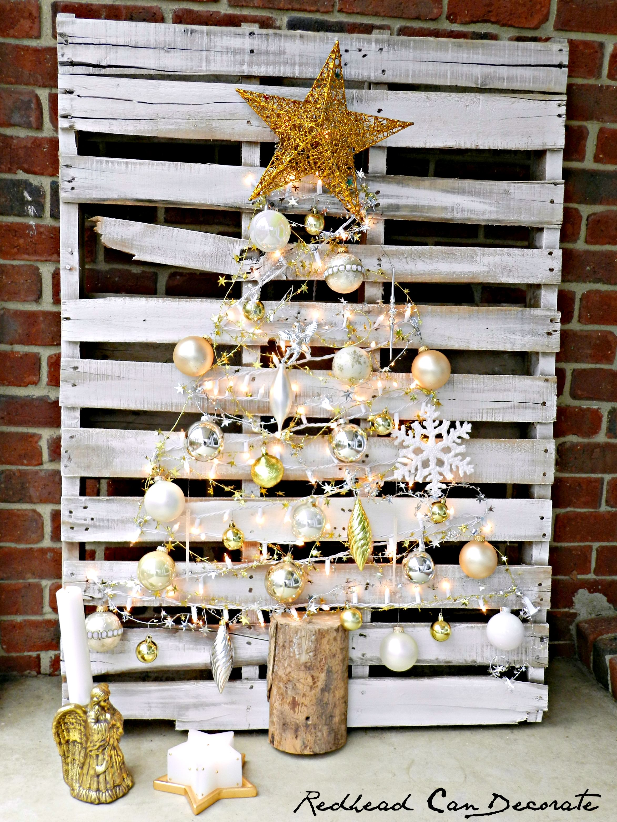 brand new 30921 62e61 Pallet Christmas Tree - Redhead Can Decorate