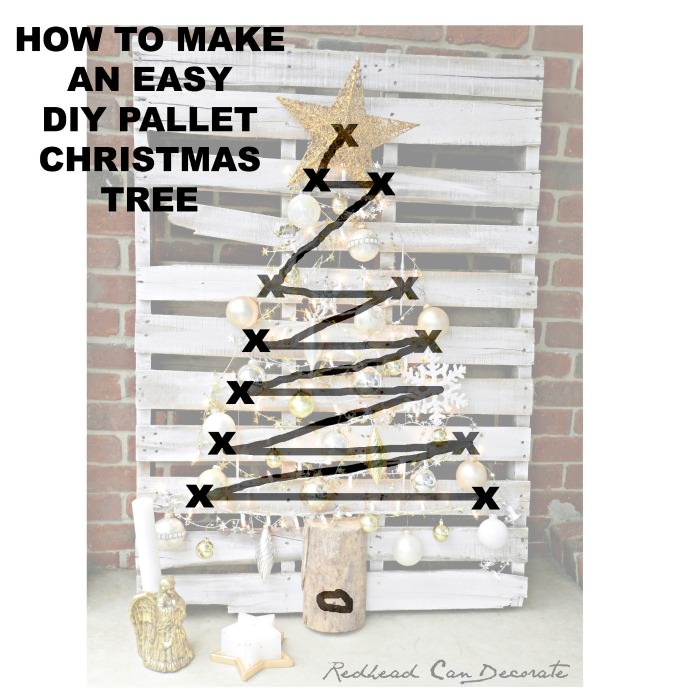 How to make an easy DIY Pallet Christmas Tree