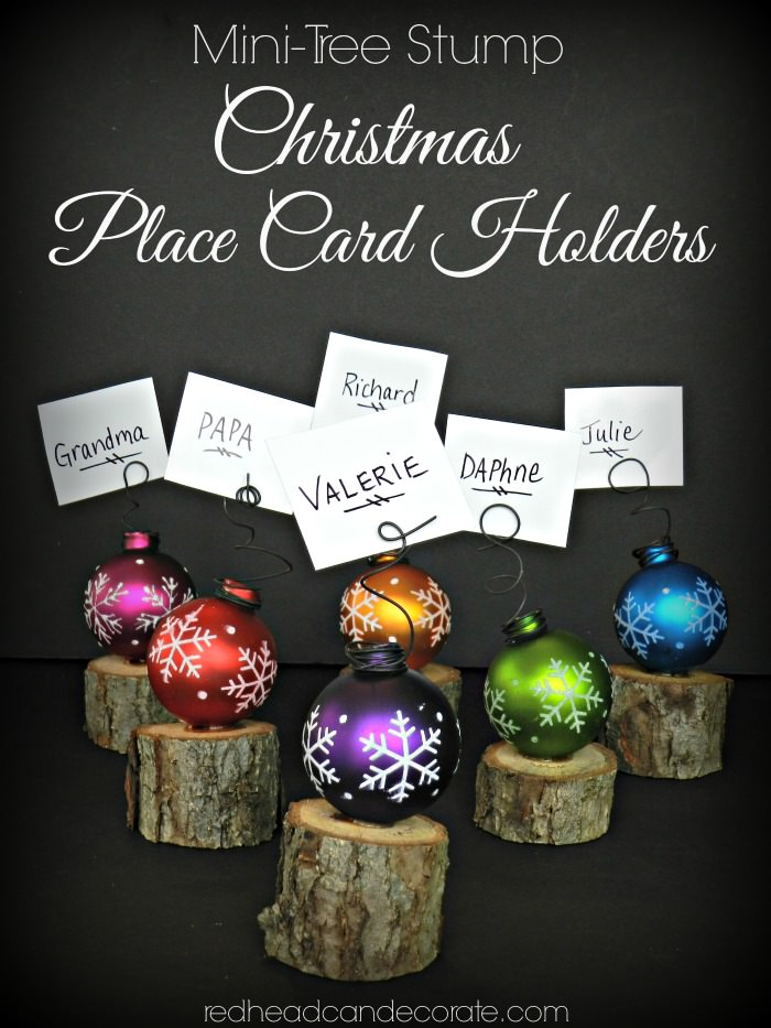 Min Tree Stump Place Card Holders by redheadcandecorate.com