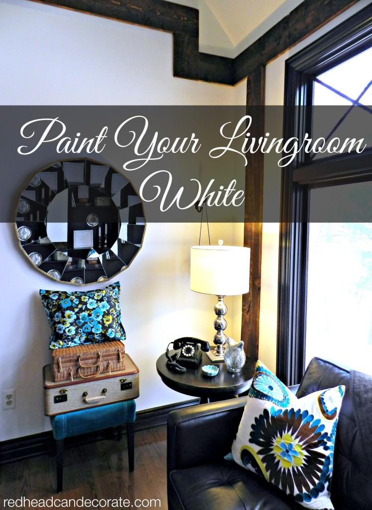 Paint your livingroom white!