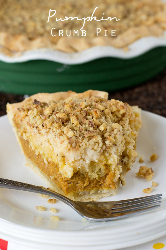 """Traditional pumpkin pie topped with an amazing cake mix crumb topping. Named """"Best Fall Dessert Ever"""" by our family!"""