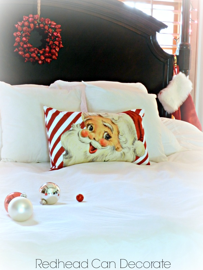 Cute Striped Santa Pillow