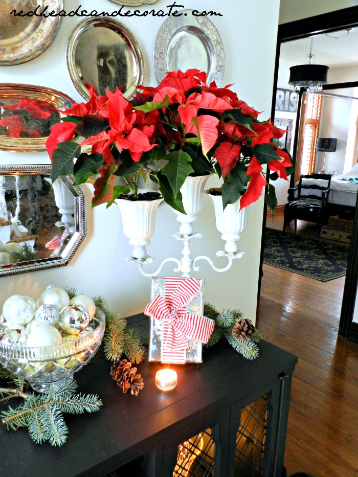 DIY Poinsettia Candelabra by Redhead Can Decorate