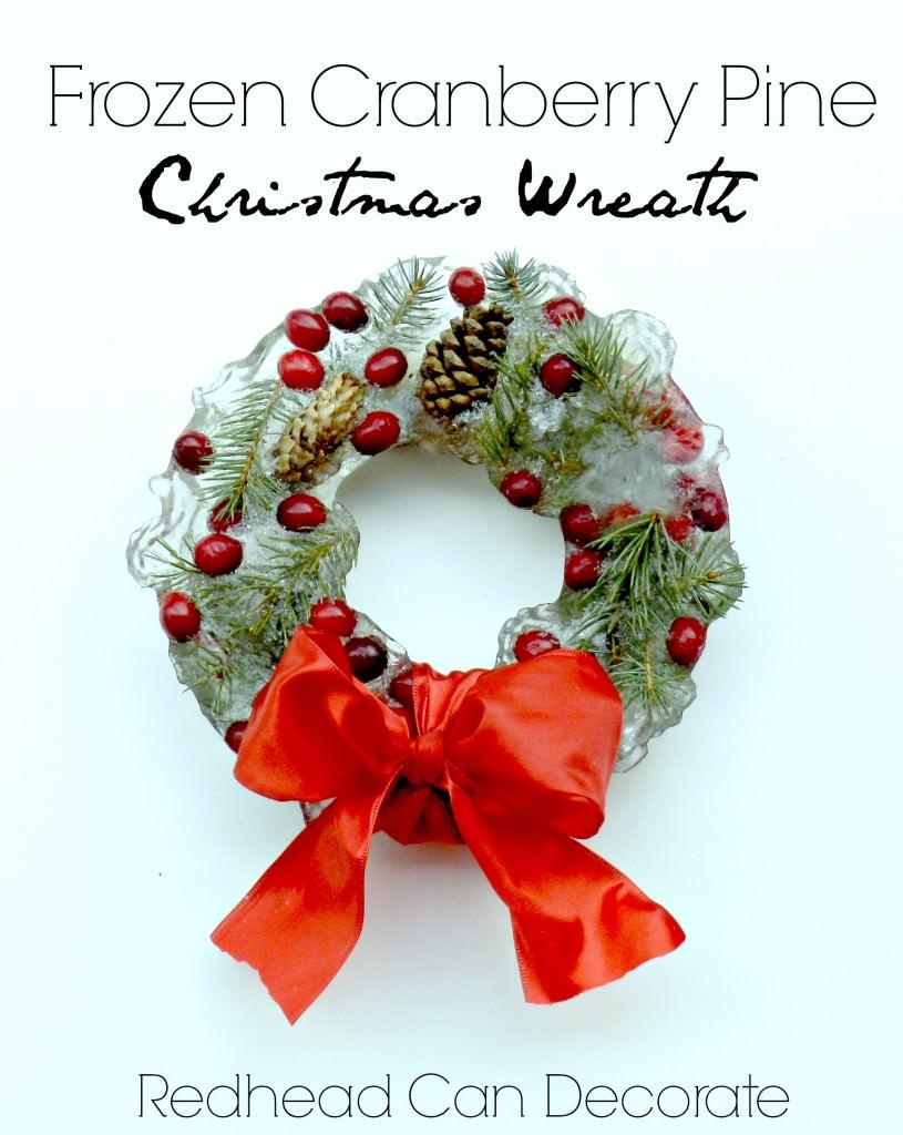Frozen Cranberry Pine Christmas Wreath