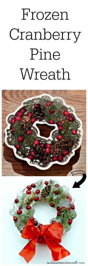 Frozen Cranberry Pine Christmas Wreath Tutorial