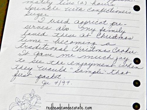 Mom's Christmas Pocket Recipe