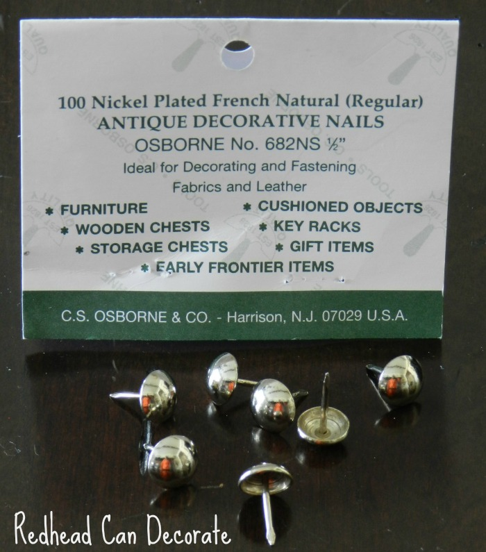 Best Upholstry Nails (to add to existing furniture)