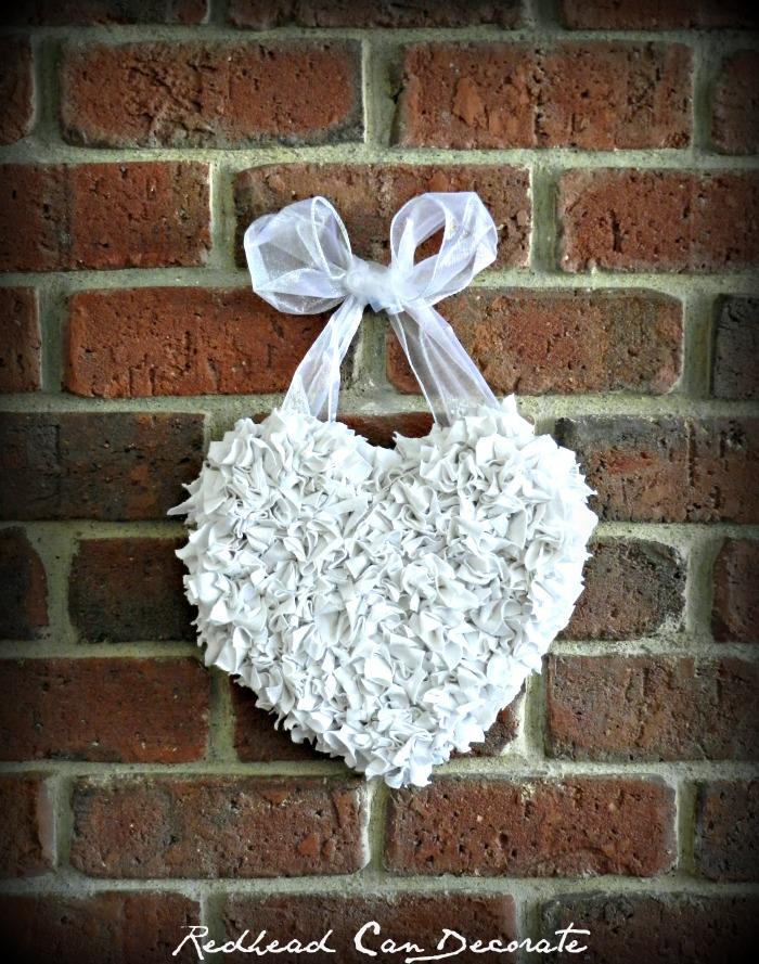 Easy Heart Wreath (made from old t-shirt)