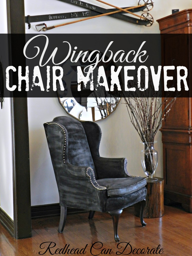 Wingback Chair Makeover (painted)