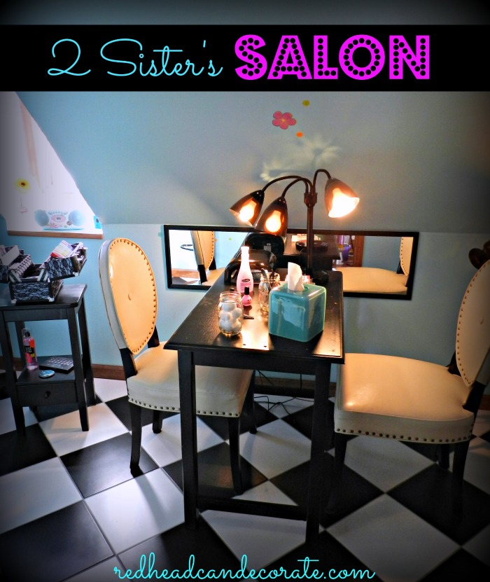 Teen salon hang out redhead can decorate for 4 sisters nail salon