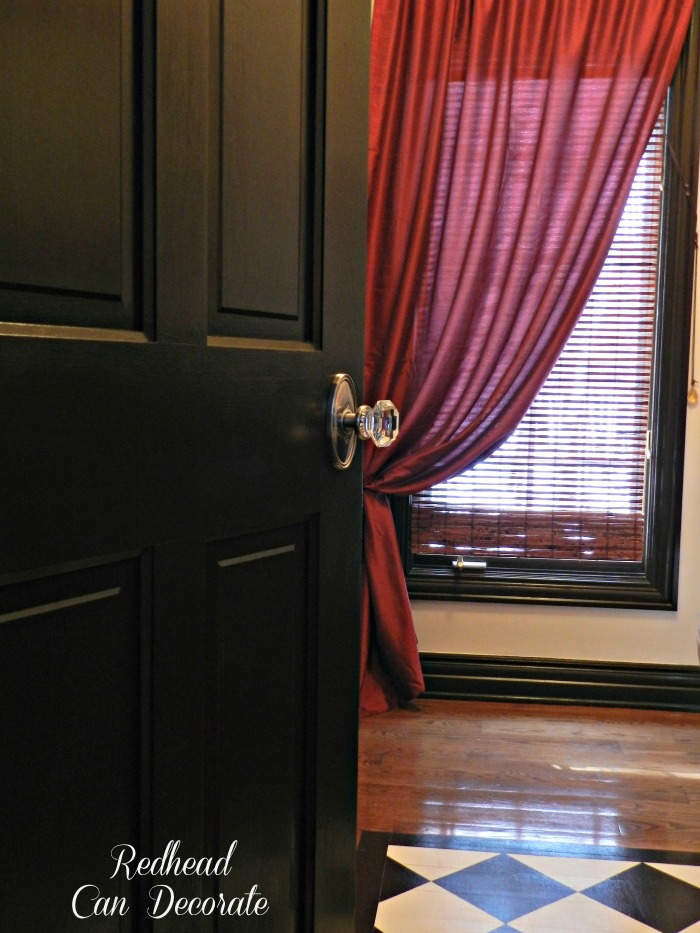 Dark Doors & Glass Knobs by Redhead Can Decorate