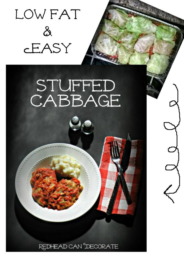 Low Fat & Easy Stuffed Cabbage Recipe