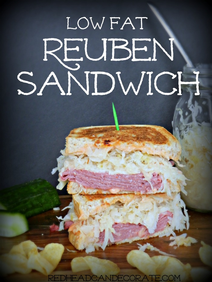 Lowfat Reuben Sandwich Recipe...this was so good!