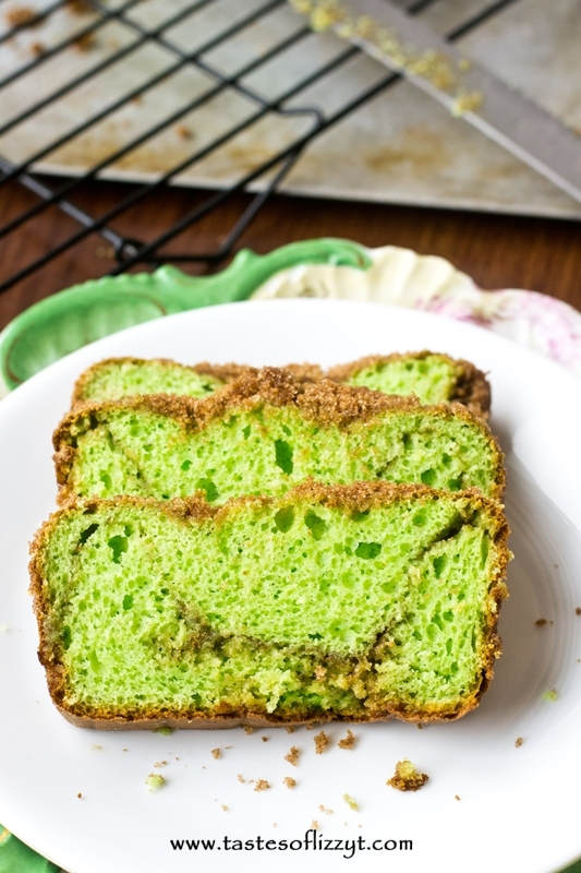 Pistachio Pudding Bread - Tastes of Lizzy T