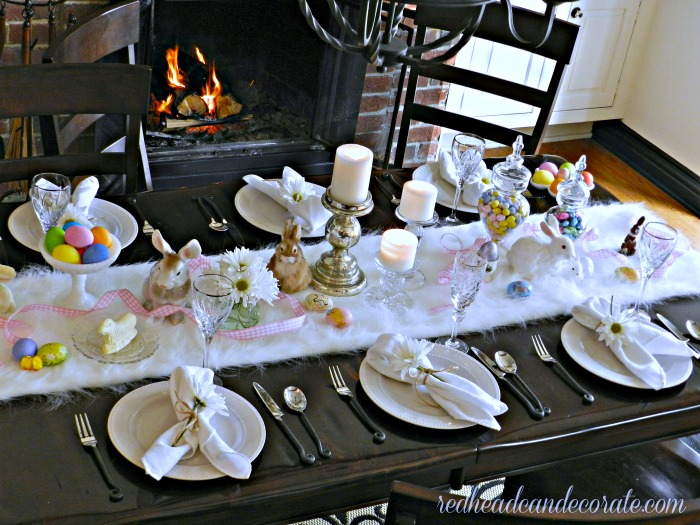 Pretty Easter Table by Redhead Can Decorate
