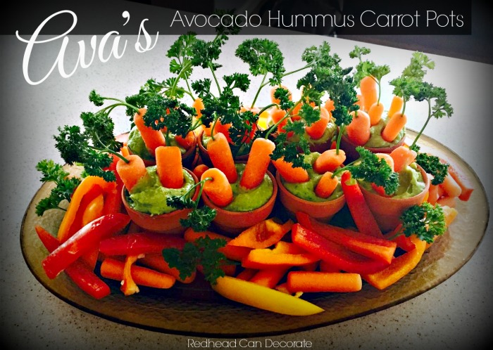 Avacado Hummus Carrot Pots