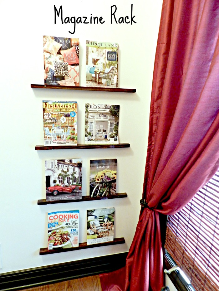 Easy DIY Magazine Rack