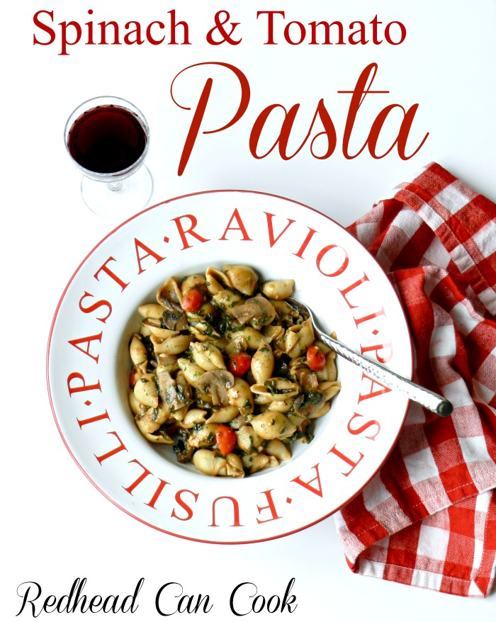 Spinach & Tomato Pasta (made in one pot)