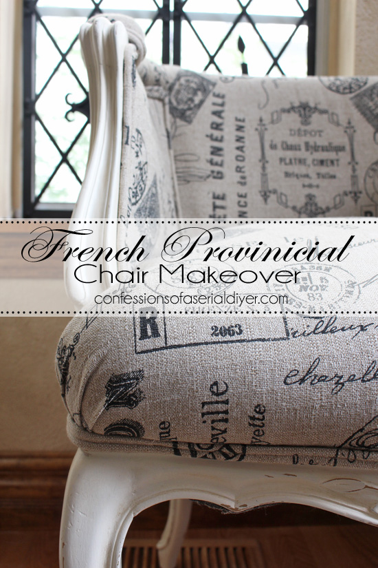 French Provinical chair makeover