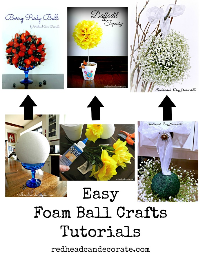 From Mother's Day, to the Fourth of July, to a wedding...these foam ball crafts are so easy and affordable.  Full tutorials included.