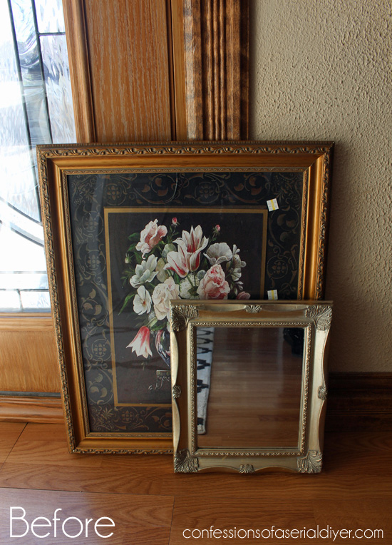 ThriftyFabric-Framed-Mirror-Before