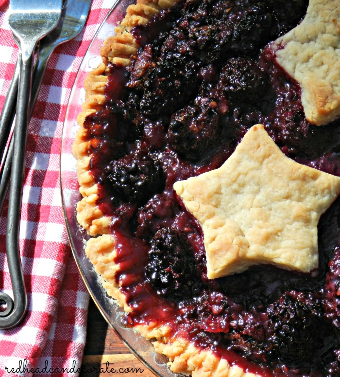 Easy Crust Black Berry Pie