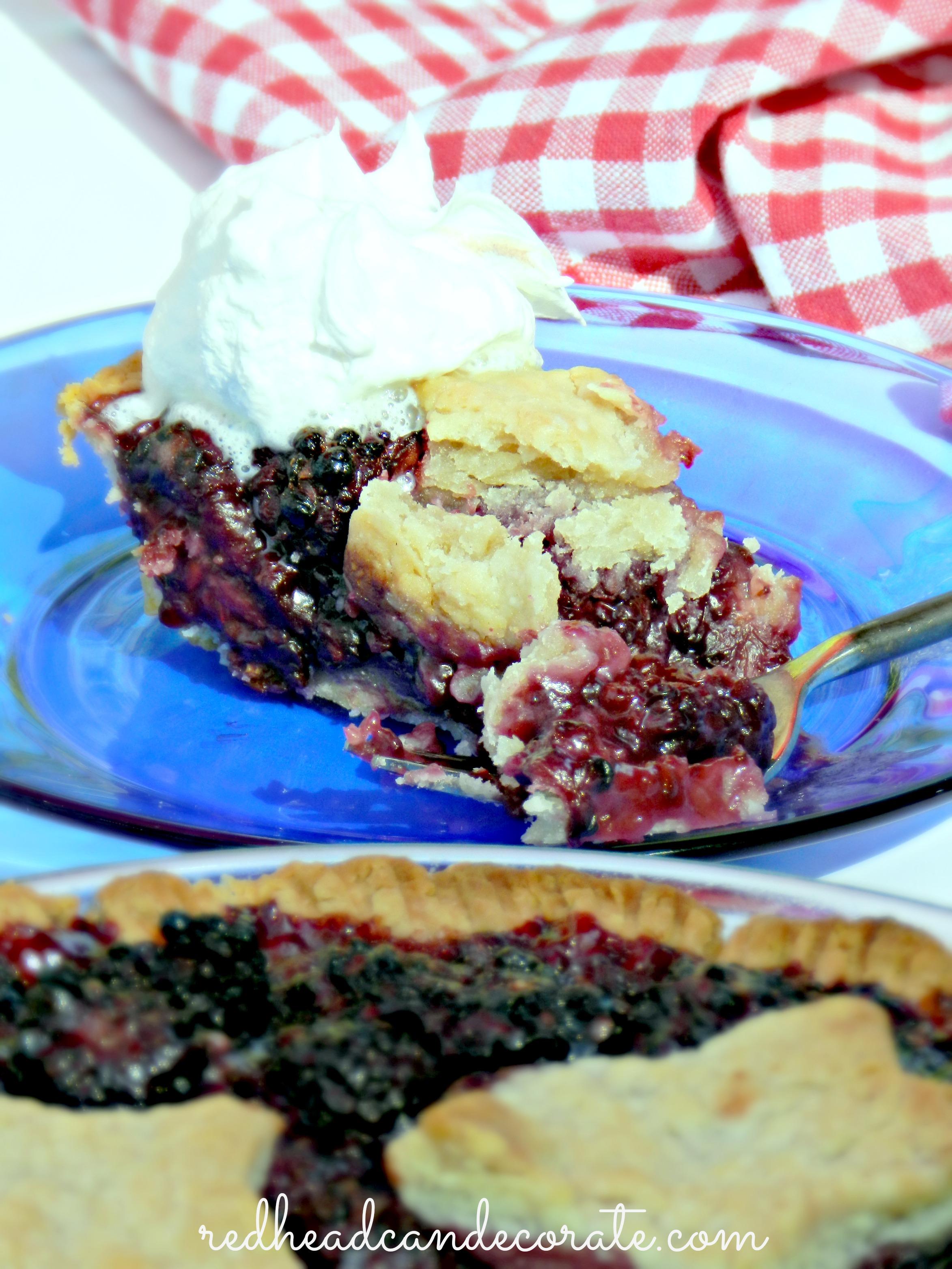 Fast Black Berry Pie!
