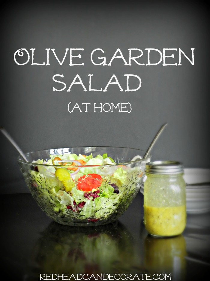 Olive garden salad hack redhead can decorate - Best thing to eat at olive garden ...