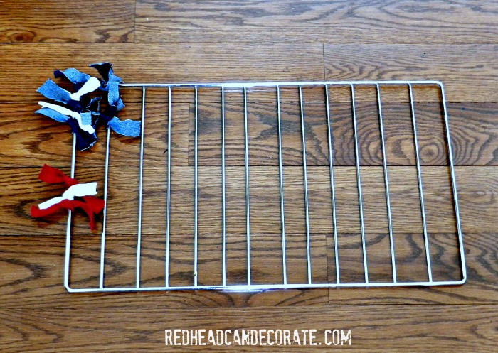 Repurposed Grill Grate to American Flag