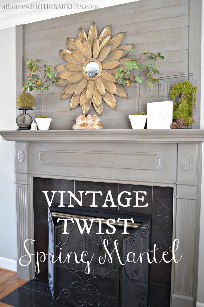 Vintage Twist Spring Mantel Tour