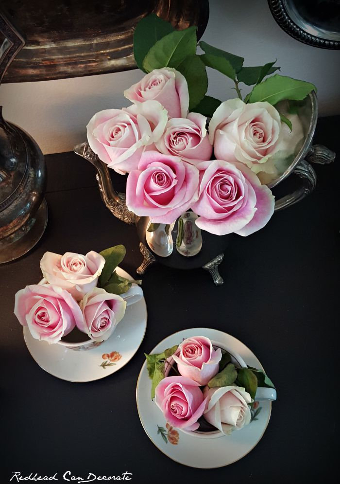 Beautiful Thrift Store Tea Pot Idea