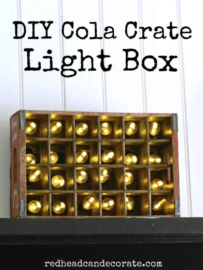 DIY Cola Crate Light Box Tutorial